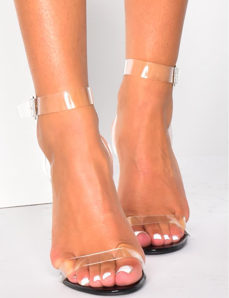 Sandals with Transparent Heels