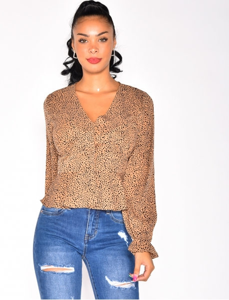 Blouse with Leopard Pattern