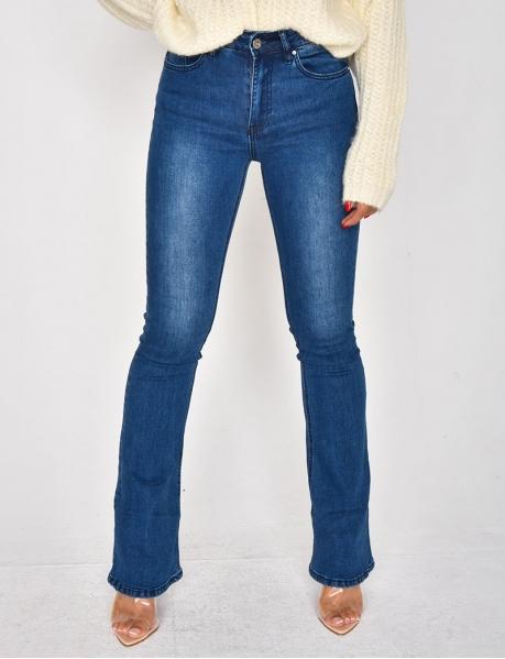 Jeans Skinny Fit, mit Schlag