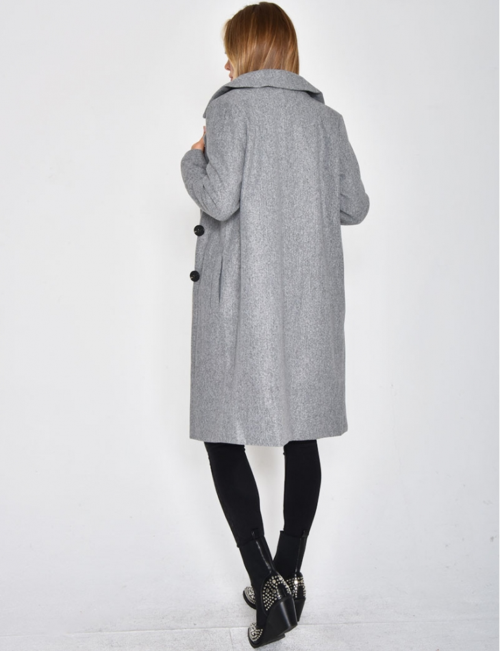Long Flecked Grey Coat