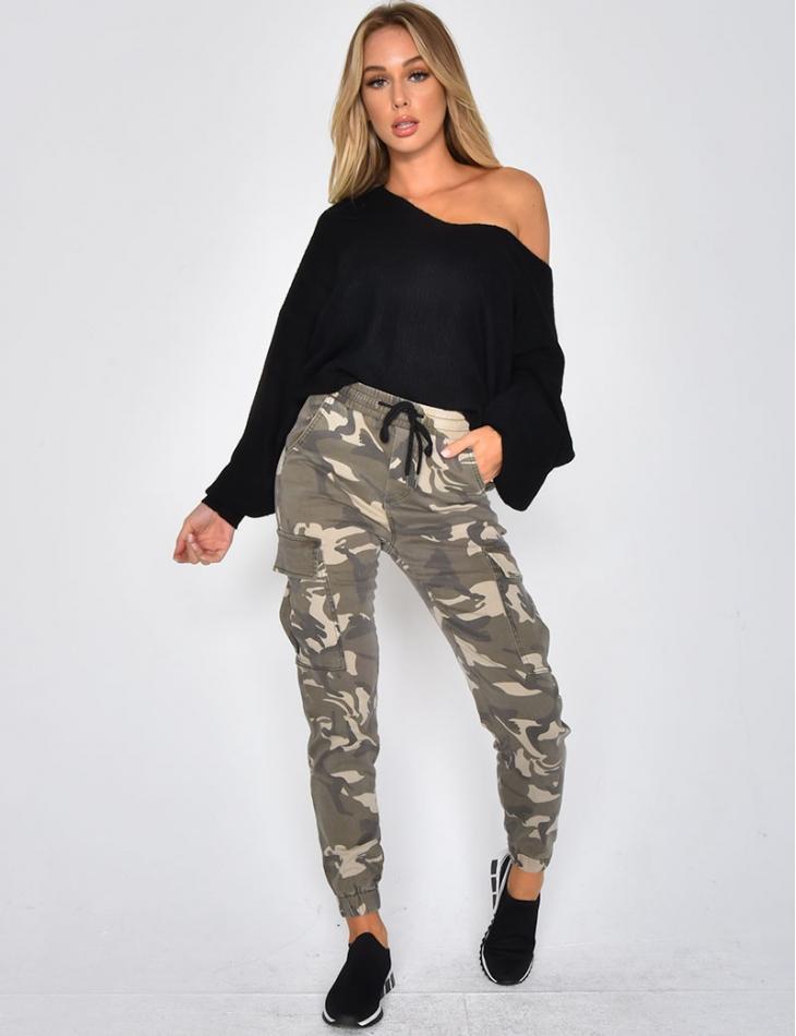 Jogger en jeans camo