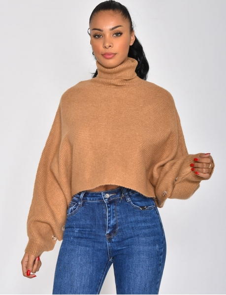 Batwing Sleeve Jumper with Buttons
