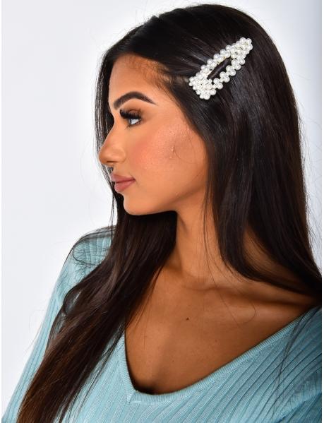 Haarspangen mit weißen Perlen