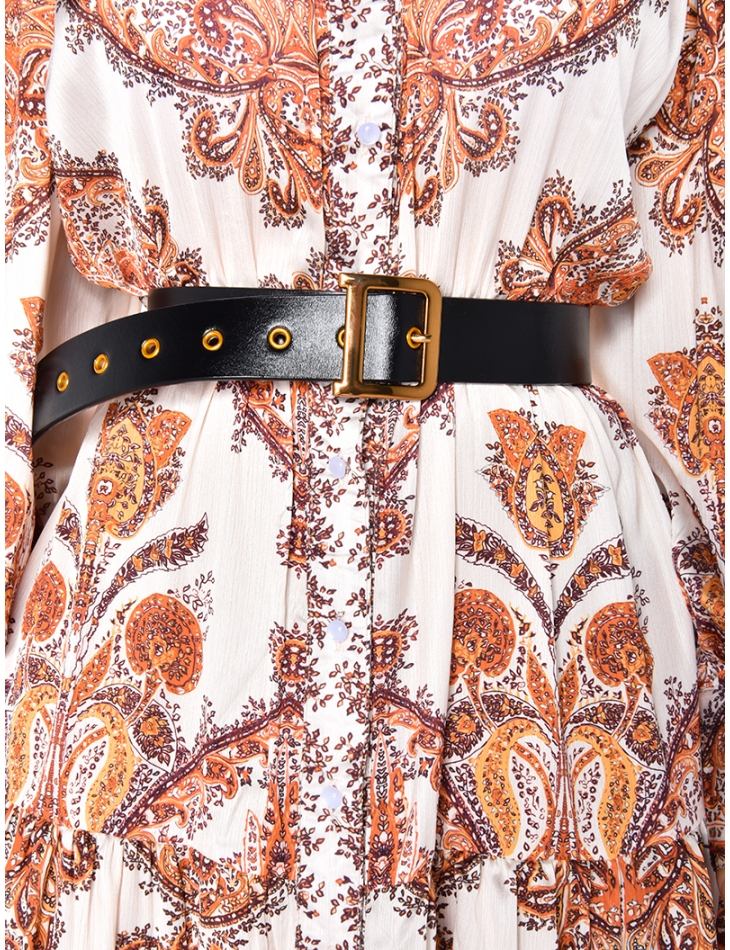 Genuine Leather Belt with Buckle