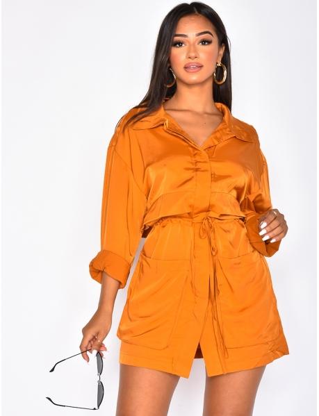 Shirt Dress with Nipped Waist