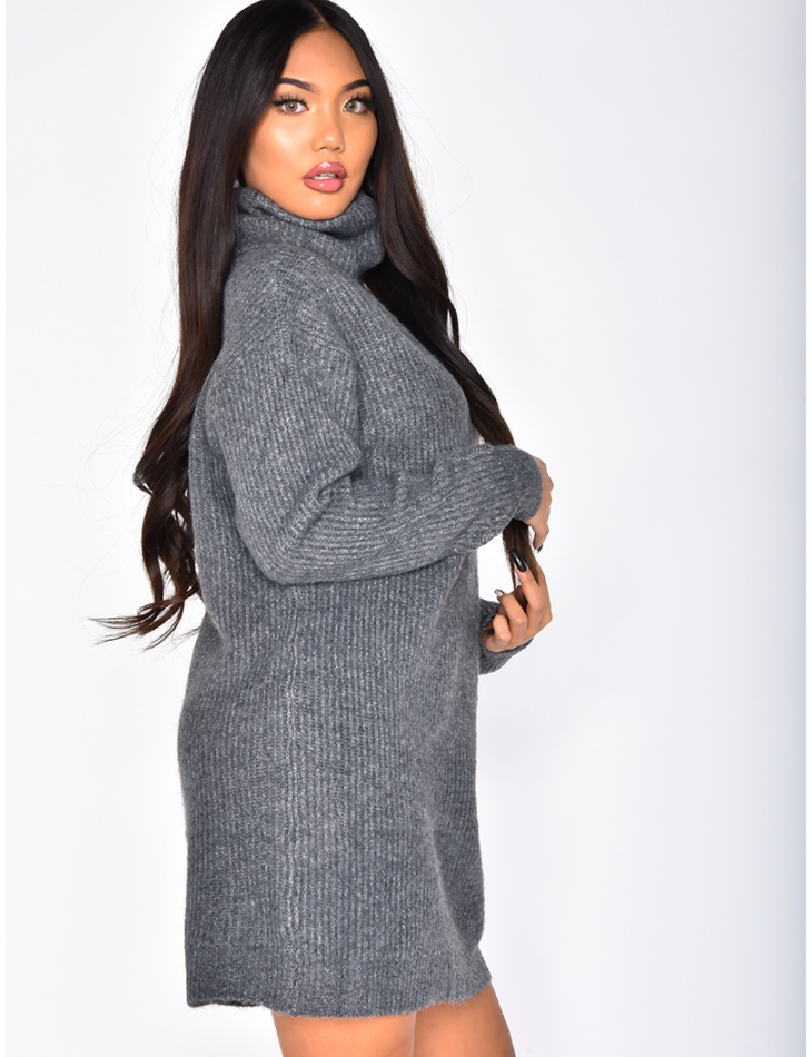 Polo Neck Jumper Dress