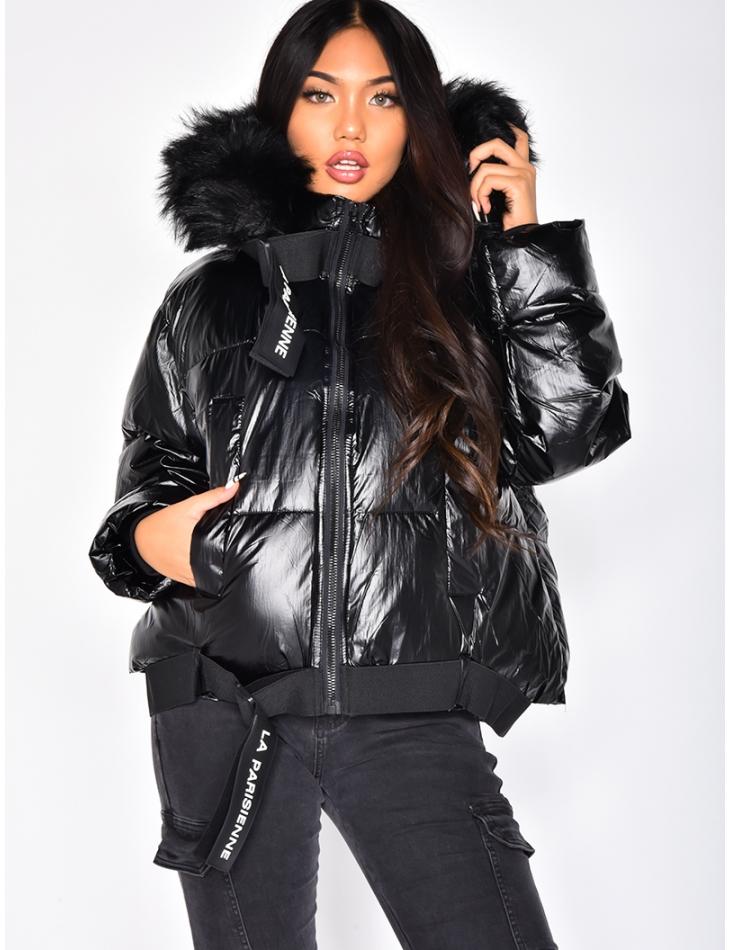 Padded Jacket with 'la parisienne' Belt