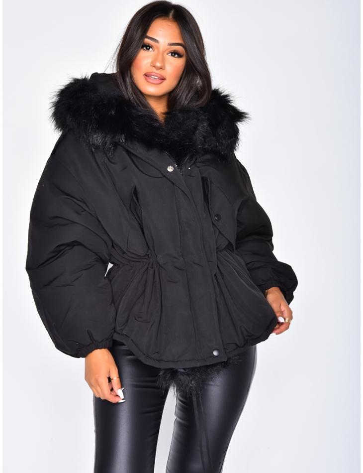 Asymmetric Oversized Padded Jacket