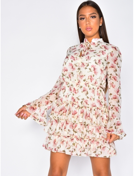 Ruffle Dress with Flowers