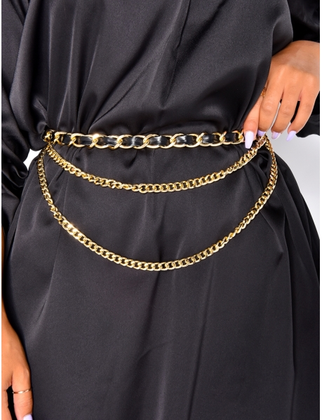Chain & Leather Belt