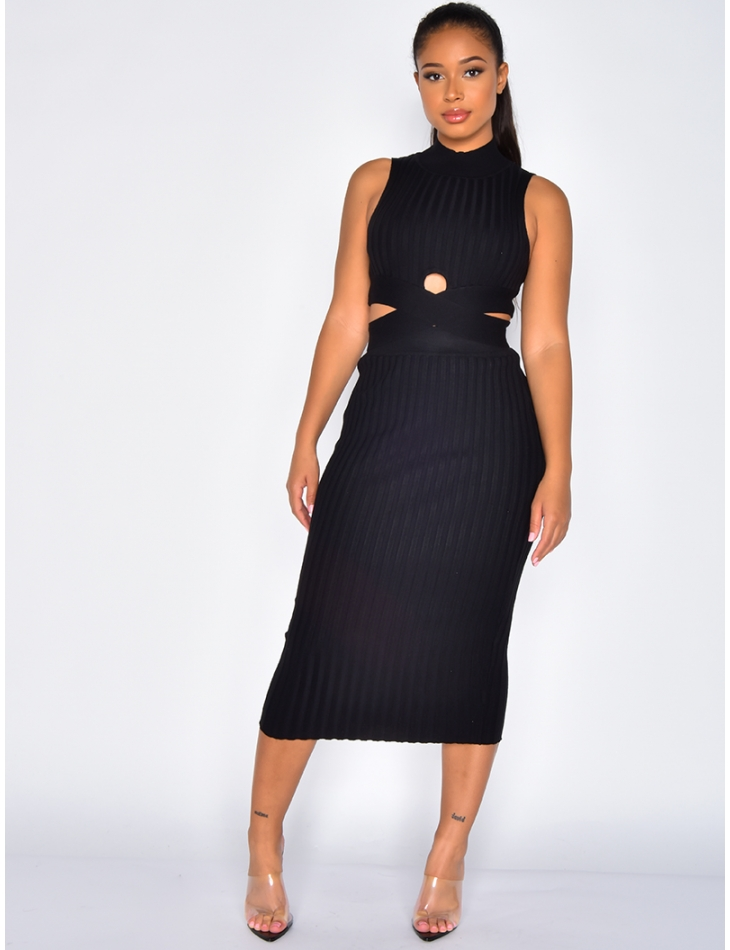 Ribbed Crop Top and Skirt Co-ord