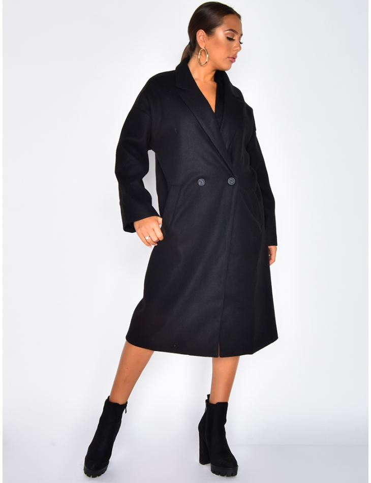 Manteau long chiné