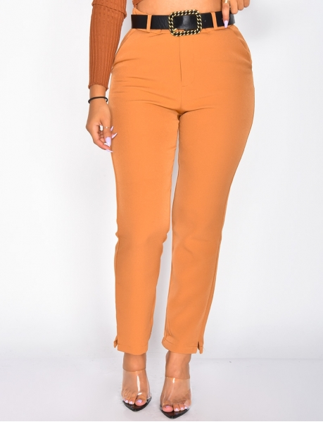 Pantalon tailleur taille haute