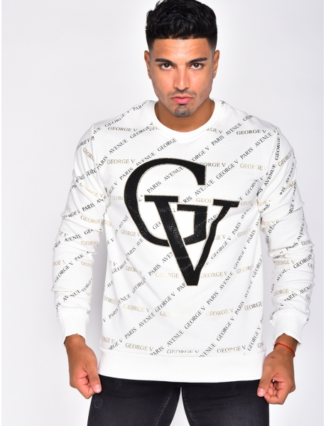 Jumper with 'George V' in Rhinestones