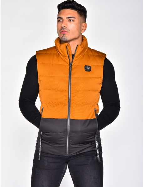 Two-Tone Sleeveless Thermal Jacket
