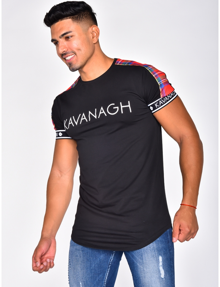'KAVANAGH' T-shirt with Tartan Stripes