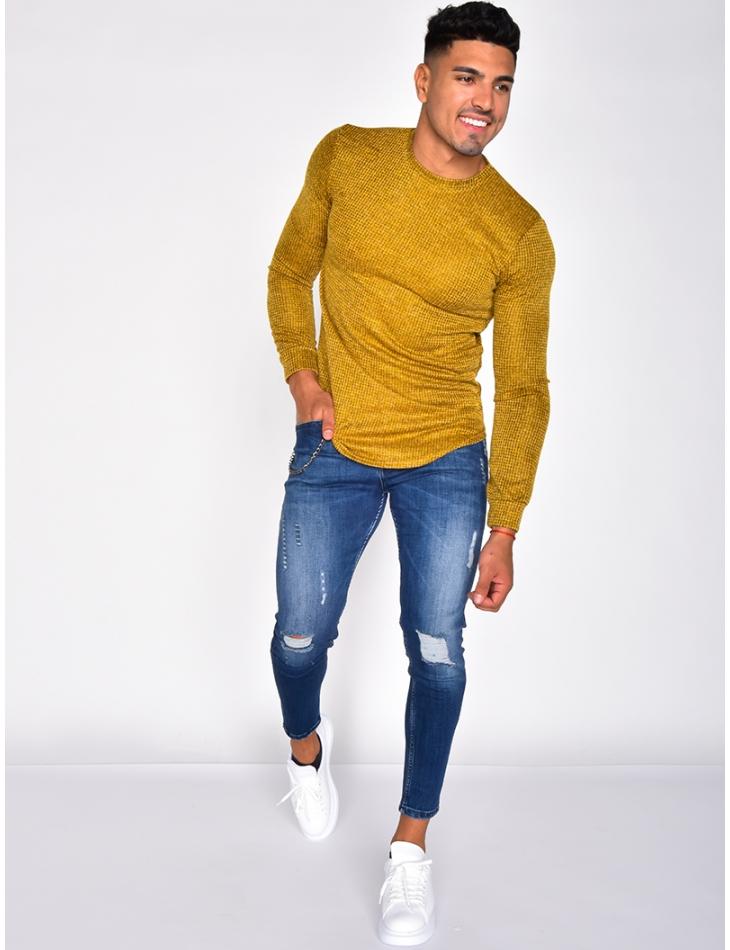 Tee-shirt manches longues chiné