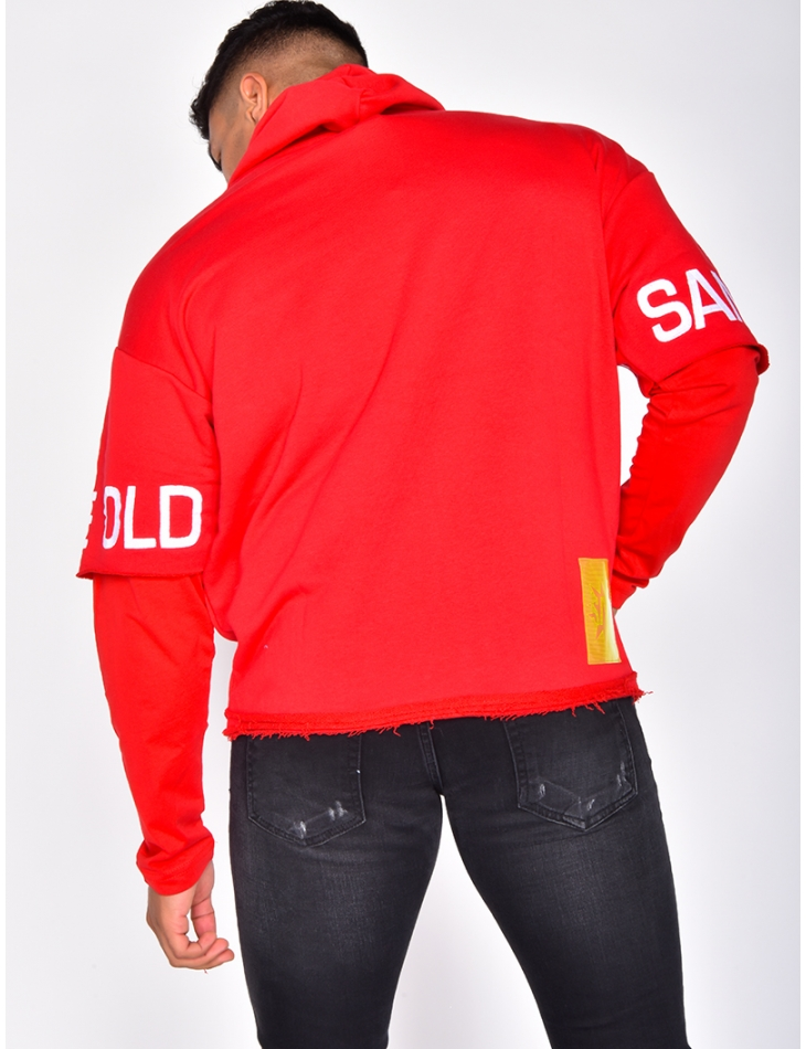 'SAW' Sweatshirt with Integrated Long Sleeved T-shirt