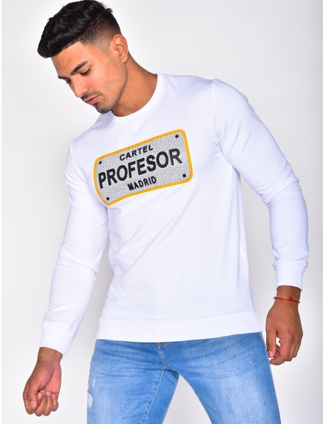 "Sweat à strass ""PROFESOR"""