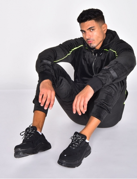 Velvet Tracksuit with Clips