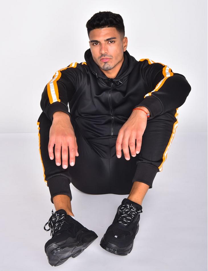 Tracksuit with Fluorescent Stripes