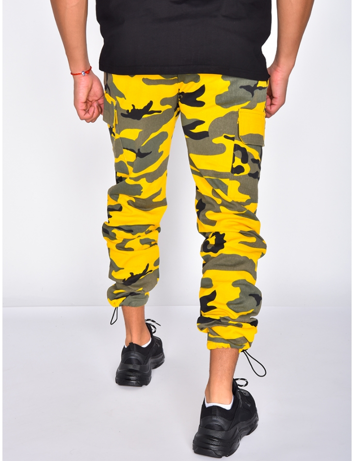 Camouflage Joggers with Pockets