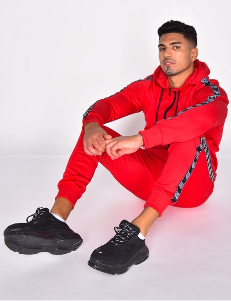 Tracksuit with Lion Head Stripes