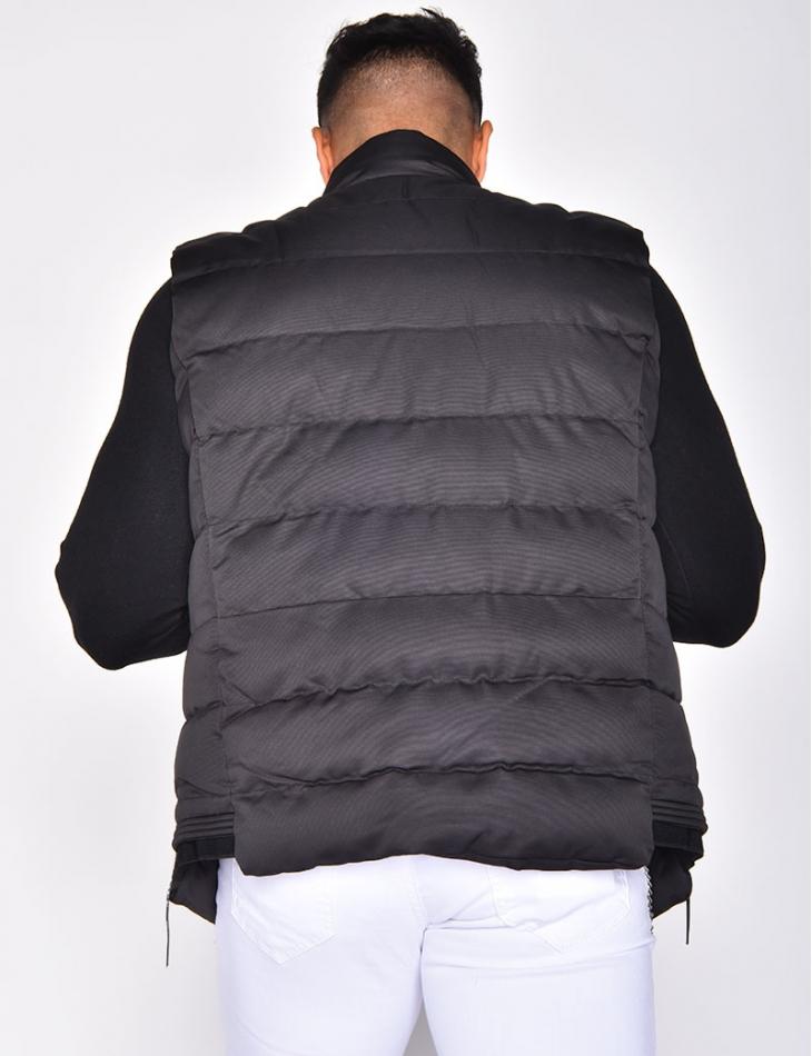 Two-Tone Sleeveless Jacket with Battery