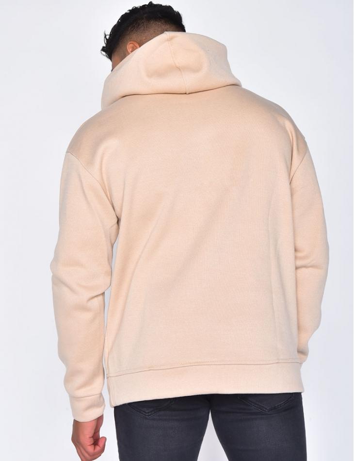 Sweatshirt with Hood and Pockets