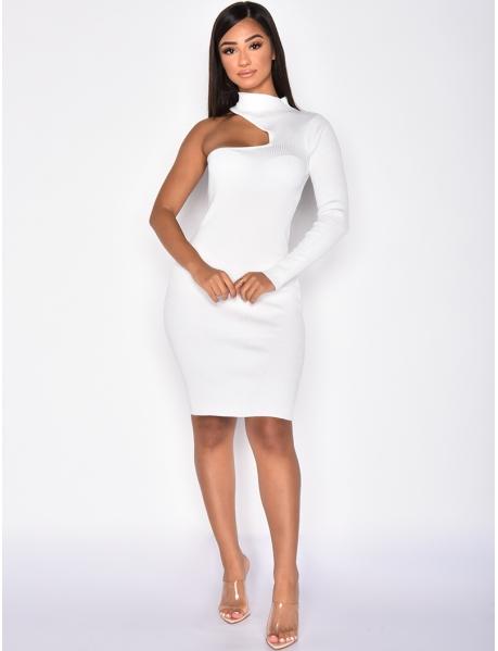 Ribbed Asymmetric Dress
