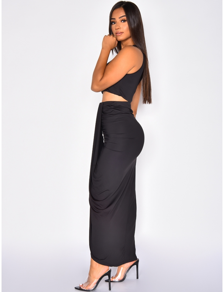 Long Skirt and Crop Top Co-ord