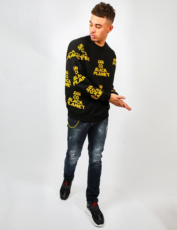 'SAW CO BLACK PLANET' Sweatshirt