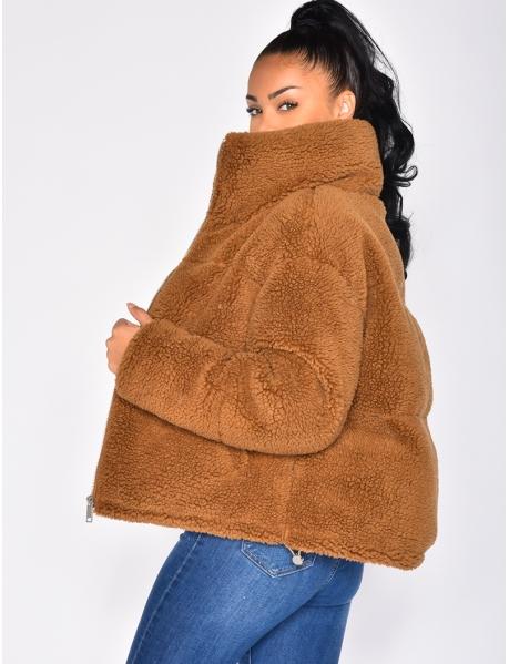 - Jacke aus Kunstpelz
