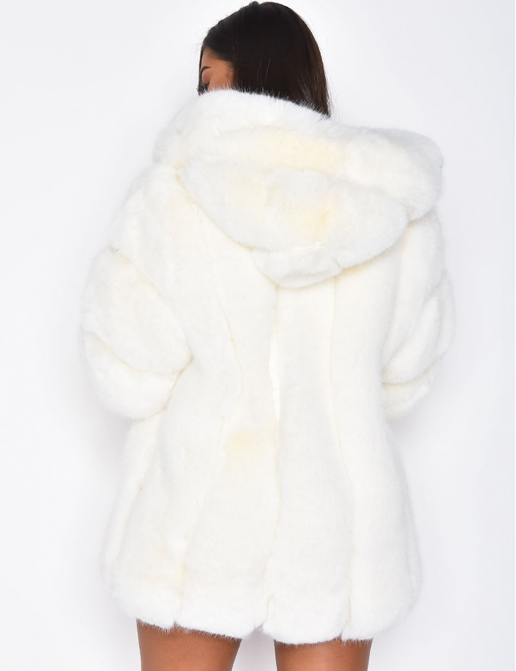 Premium Vegan Fur Jacket with Hood