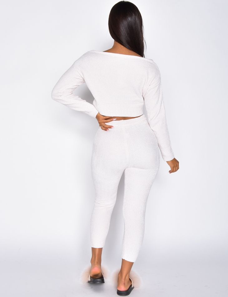 Super Soft Crop Top and Trousers Co-ord