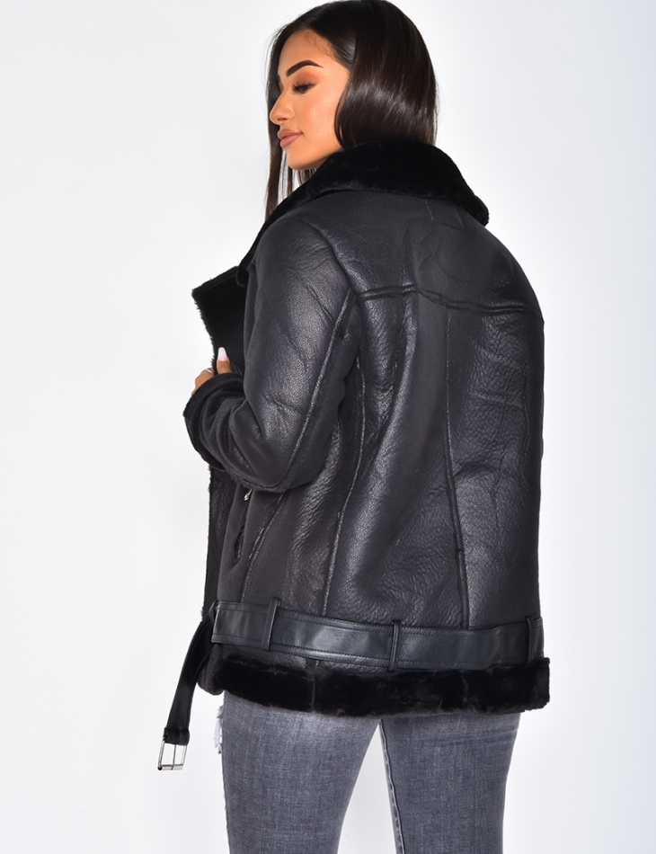 Bomber Jacket with Fur