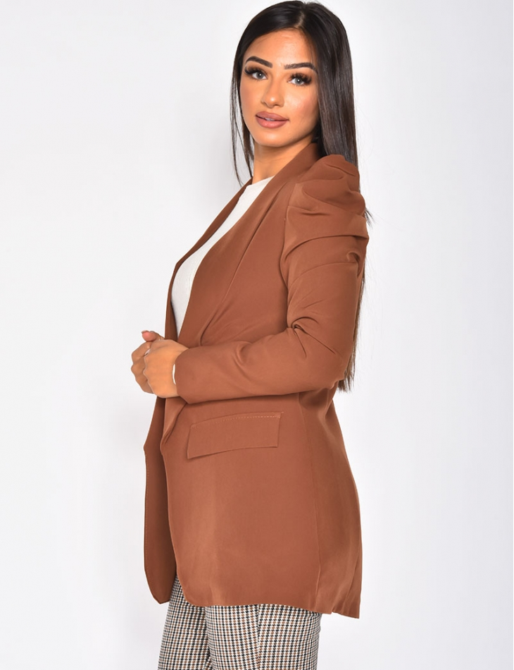 Blazer with Puff Sleeves