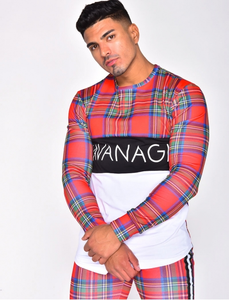 """""""KAVANAGH"""" Checked Jumper with Sleeves"""