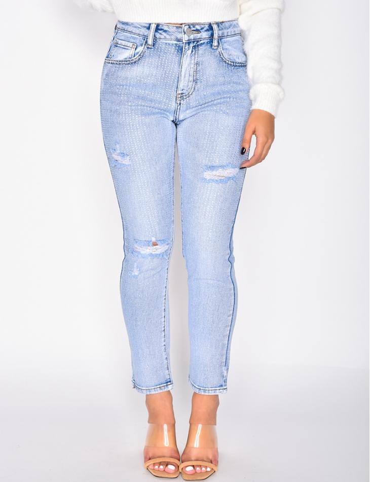 Jeans with Rhinestones