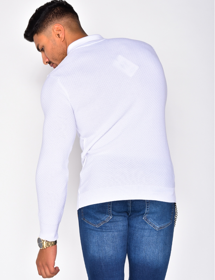 Jumper with Shirt Collar