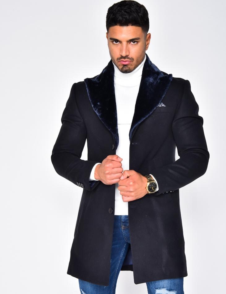 Manteau col en fourrure