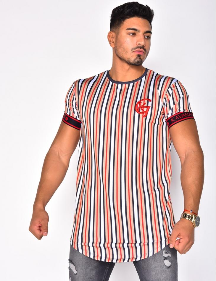 "T-shirt ""KAVANAGH GIANNI"" à rayures"