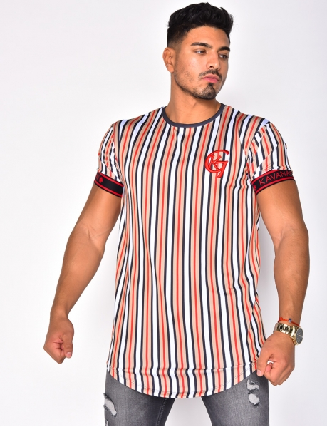 """KAVANAGH GIANNI"" Striped T-shirt"