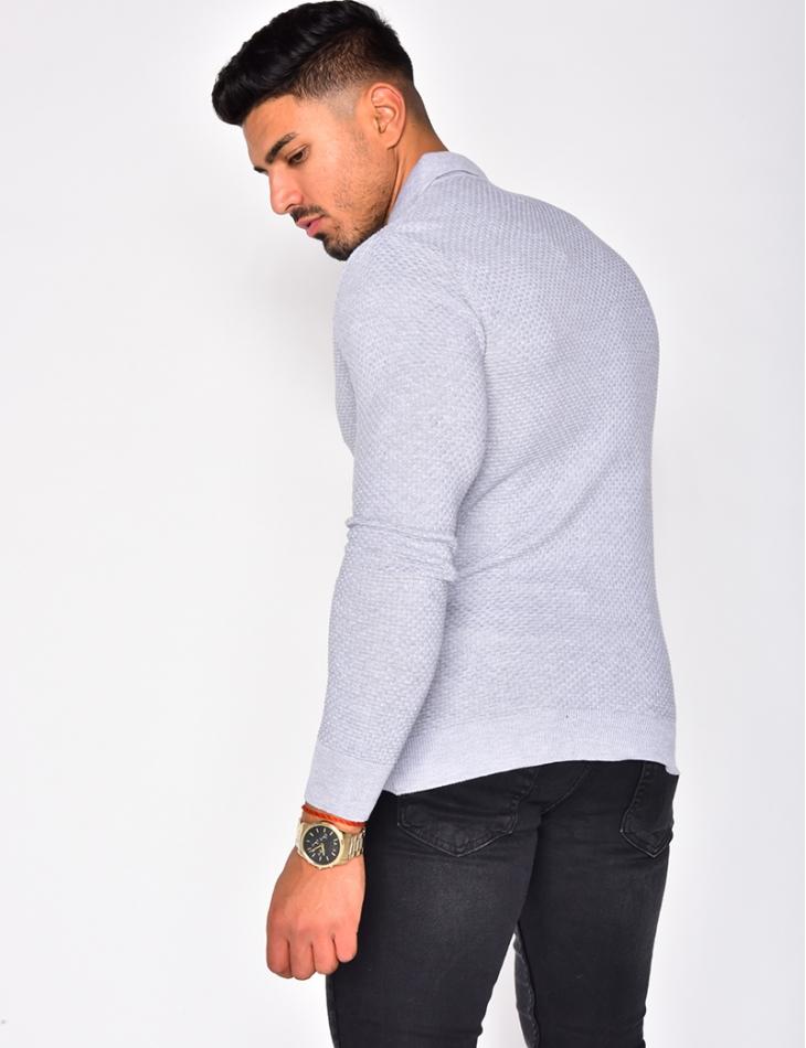 Jumper with Shirt Collar