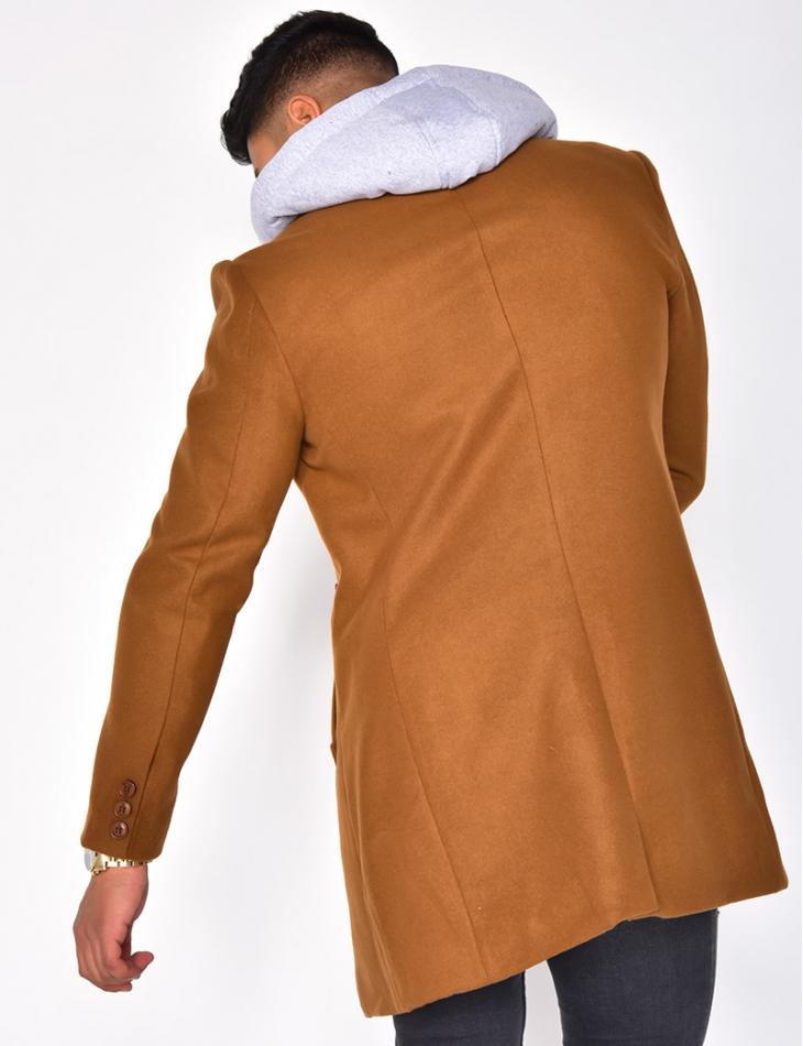 Manteau à capuche effet sweat