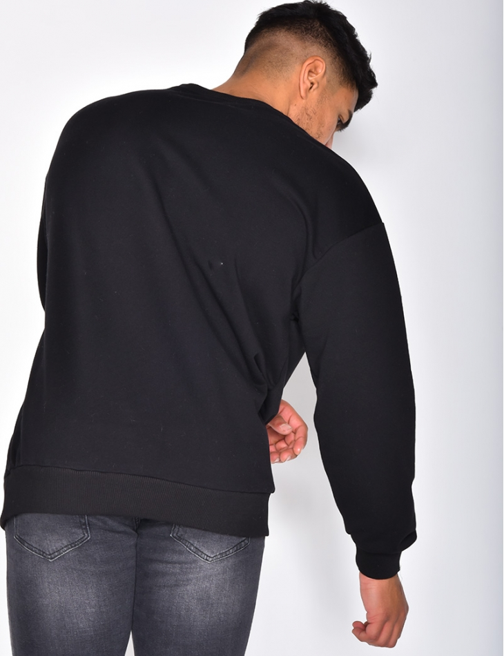"""SAW"" Sweatshirt with Round Neckline"