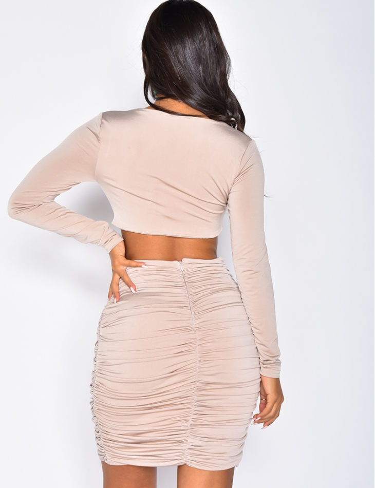 Cut Out Drape Dress