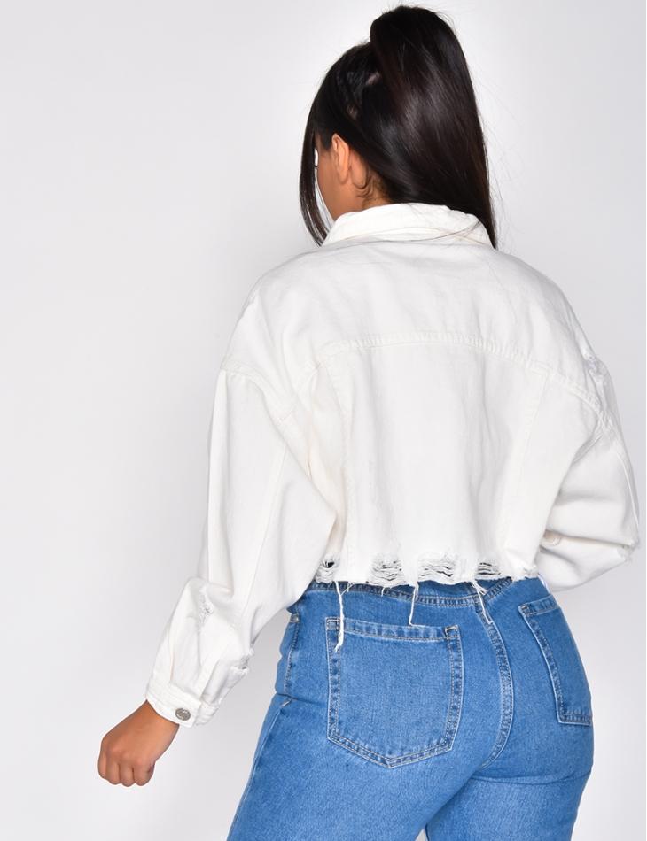 Veste en jeans courte