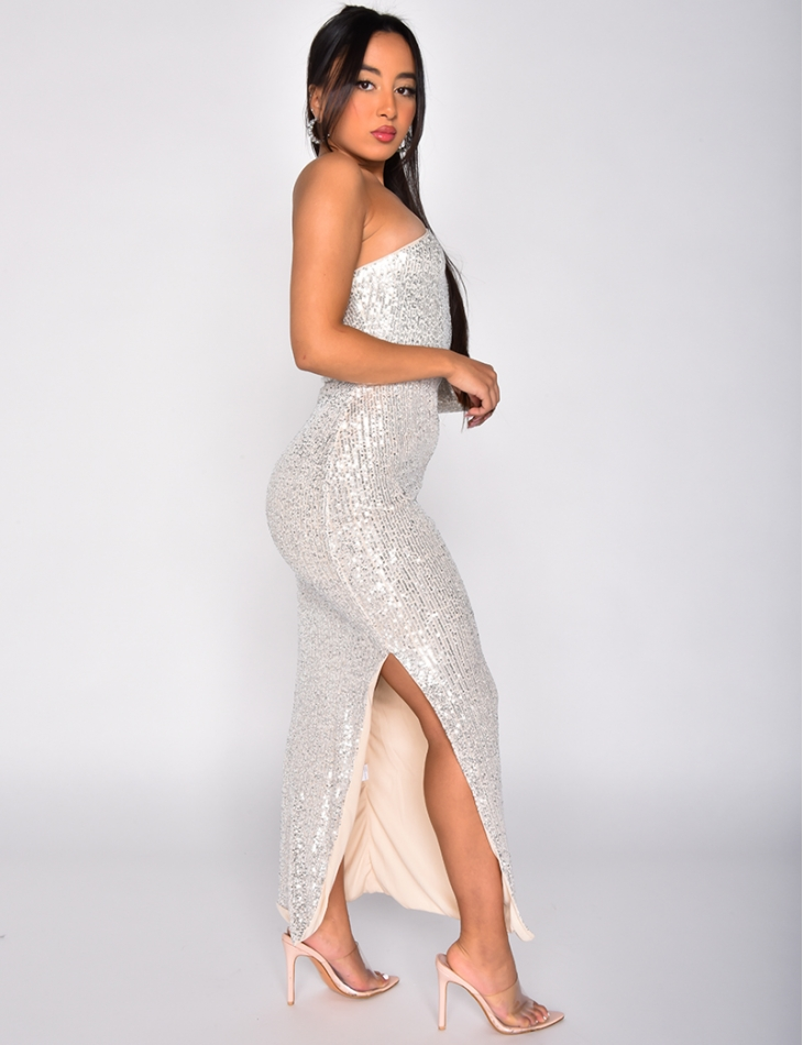 Off the Shoulder Sequin Dress