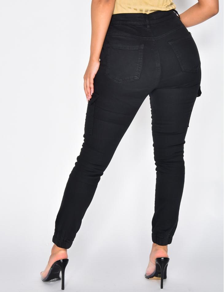 Jeans cargo noir